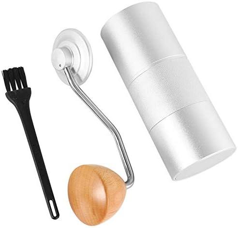 Handmatige Grinder, Draagbare Koffiemachine, Huishoudelijke Handmatige Grinder Zilver