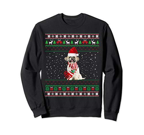 Shih tzu Ugly Christmas - Merry  Santa Shih tzu Sweatshirt (Tzu Christmas Sweater Shih)