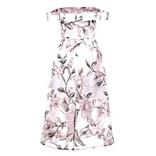 Vestidos Fiesta De Playa con De Mujer Largo Flores Vestido Rosa para Estampado Verano Florales Flores De Vestido Verano Mujer 4rwErWqxc