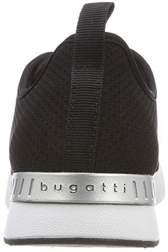Mujer schwarz Bugatti Para 442271026900 Negro 1000 Zapatillas XxwwtFH