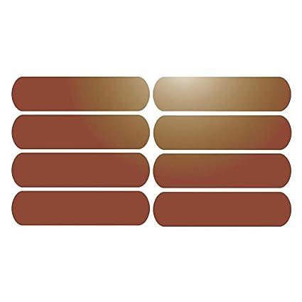 8 Bandes adhésives réfléchissantes pour signalisation sur casque 8x2 cm Orange Réfléchissant