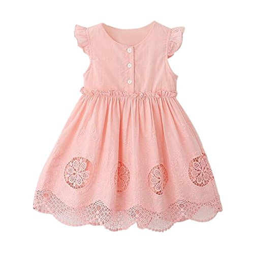 Baby girl Dresses, Inkach Cute Kids Girl Summer Party Princess Dress Clothes Outfits (5T, Pink) (Neon Party Outfits)