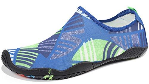89265a13544505 HEETA Water Sports Shoes for Women Men Quick Dry Aqua Socks Swim Barefoot  Shoes for Beach