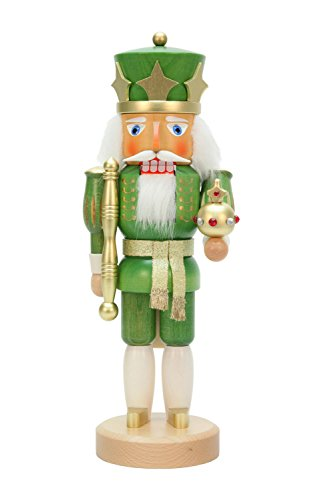 Alexander Taron Christian Ulbricht Decorative Green King Nutcracker by Alexander Taron