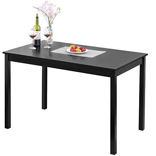 Merax 47'' Rectangular Dinning Table in Dark Espresso 100% New Zealand Pine Wood Finish by Merax