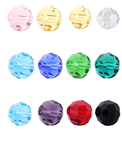 Creative Club Wholesale Mix Lots 400pcs 6mm #5000 Round Crystal Beads with Container Box (400pcs) CCS18
