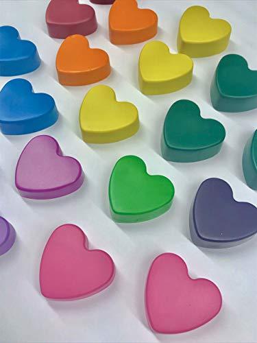 Crayon Hearts Bulk Valentine's Gifts, Classroom, Teacher, Birthday -