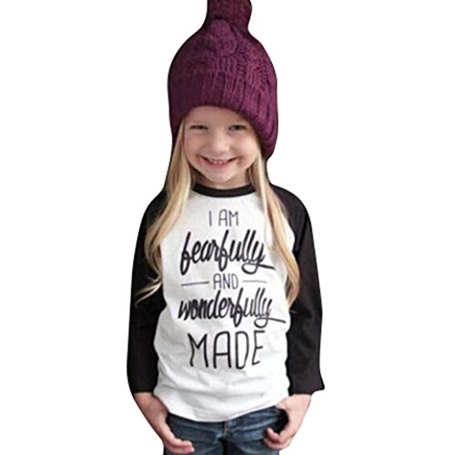 GBSELL Toddler Baby Kids Girls Clothes Letter Print Long Sleeve T-shirt Tops Fall Winter (White, (Girls Clothes)