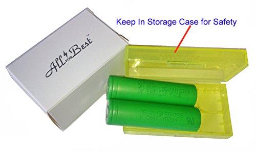 AllForBest 2 Authentic 18650 SONY US18650VTC6 High Drain Flat Top / 3000mAh 30A Li-Ion Rechargeable / Bonus: free Storage Case