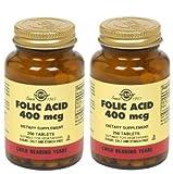 Solgar – Folic Acid 400 mcg, 250 Tablets – 2 Pack For Sale