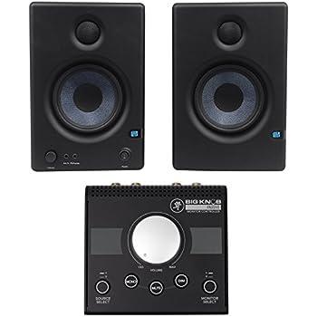 2 presonus eris e4 5 active powered 4 5 studio monitors mackie 2x2 controller. Black Bedroom Furniture Sets. Home Design Ideas