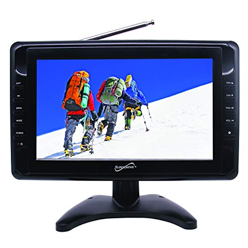 SuperSonic SC-2810 Portable LCD Digital AC/DC TV 10-Inch:...