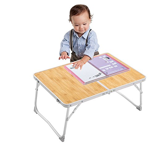 Dulcii Foldable Kid Play Table, Portable Baby Learning/Dining Table Toddler Activity Table, 62x42cm/24.4x16.5inch by Dulcii