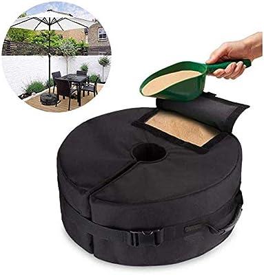 AJH Sombrilla Bolsa de Arena Suministros de jardín Impermeable Sombrilla Desmontable Bolsas de Peso Carpa Patio Sombrilla Base Sombrilla Bolsa de Arena: Amazon.es: Deportes y aire libre