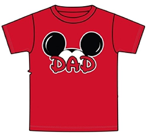 [Disney Mickey Mouse Tee Men's T-Shirt Dad Fan Fashion Top (Small)] (Family Disney Shirts)