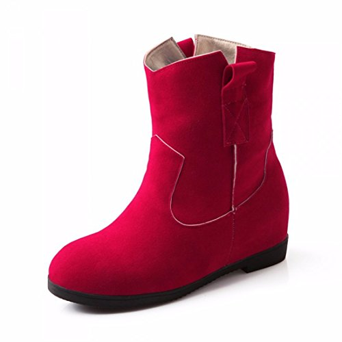 The increase in autumn and winter fashion shoes boots all-match student girl Ma Dingxue Red (Terry) kAmOA5zD