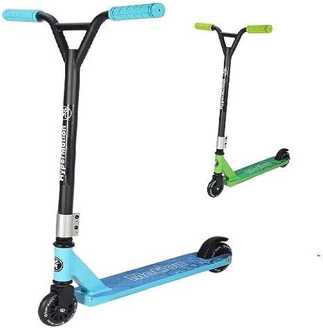 HyperMotion EVO Stunt Scooter Plegable City Volante Ajustable para Principiantes y Conductores Avanzados (Azul)