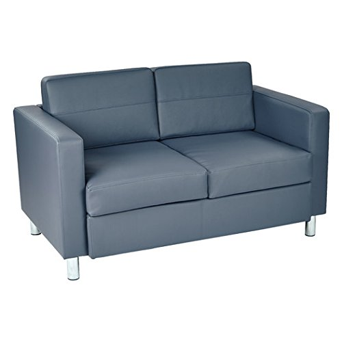 Sofa Loveseat Desma Collection Upholstered in Blue Dillon Finish