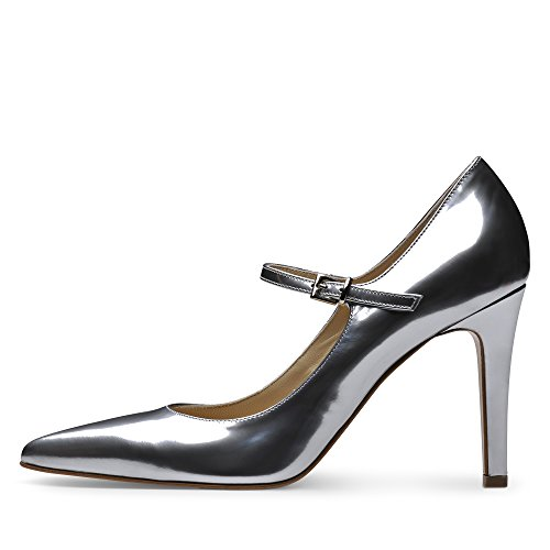 Argent Brush Femme Evita Cuir 40 Evita Shoes Shoes Escarpins Ilaria v8aSR