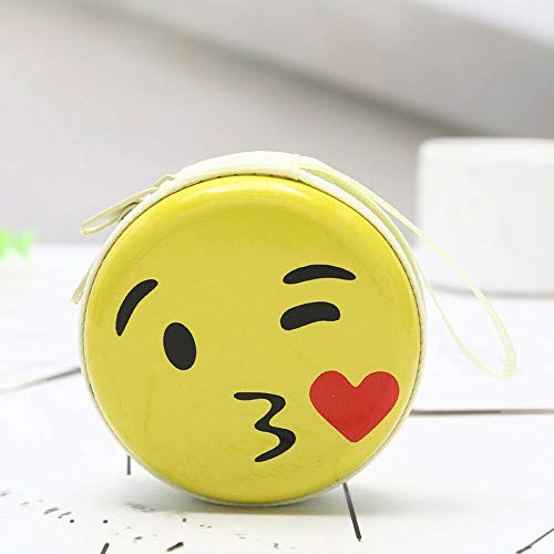 Mini Coin Cute Expression Elements Fun Round Headset Purse Wallet Pouch Bag (Pattern - - Rawlings Wallet Accessories Sports