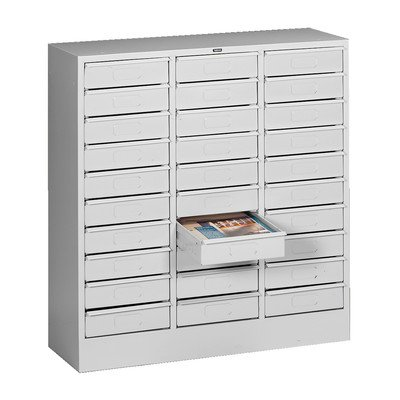 30 Drawer Organizer Filing Cabinet Color: Light Grey ()