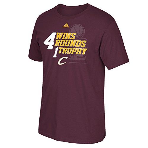 NBA Cleveland Cavaliers Men's 4 Rounds 4 Wins 1 Trophy Short Sleeve Tee, XX-Large, Maroon ()