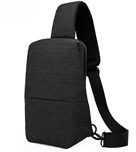 Zowaysoon Sling Shoulder Backpack Chest Cross Body Bag for Outdoor Travel Mens Womens (Black)