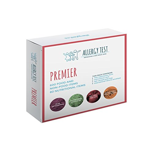 Premier Allergy Test | Detects up to 680 Most Common Food & Non Food Intolerances | Results in 7 Days | Free Nutrition Test Included | Satisfaction Guaranteed by Allergy Test
