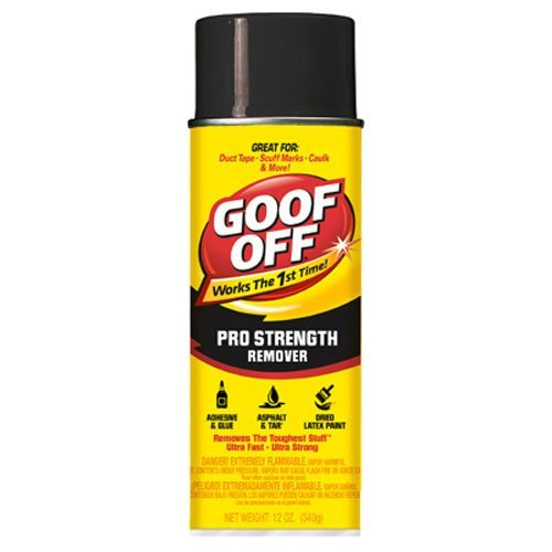 Interior Paint Aerosol - Goof Off FG658 Professional Strength Remover, Aerosol 12-Ounce