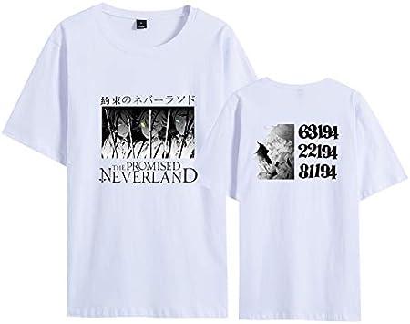 The Promised Neverland Camiseta, Emma Norman Ray Print Anime Japanese tee Cuello Redondo Unisex