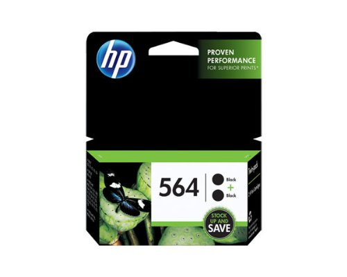 HP 564 Black Ink Cartridge 2Pack (OEM - C2P51FN) 250 Pages Ea. by HP (Image #1)