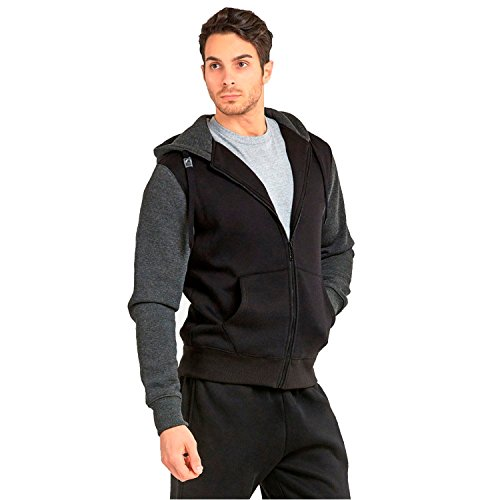 Faddism Men's Two-Tone Zipper (2 Tone Hoodie)