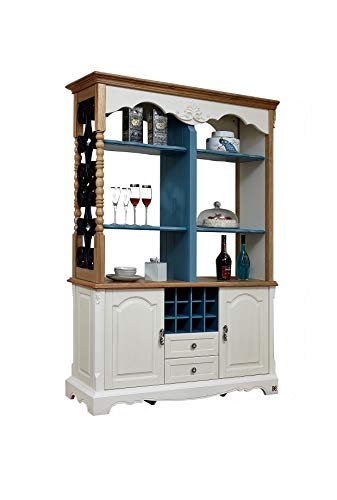 KELINSHENG Decorative Cabinet, Showcase, Locker, Antique Display Cabinet, Room Divider, Wine Cabinet Buffet Wooden top Buffet Cabinet, Suitable for Living Room, Dining Room