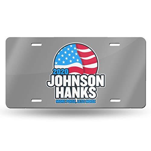 Oppo-ww Johnson Hanks 2020 Retro License Plates for Car Decoration 6 Inch X 12 Inch