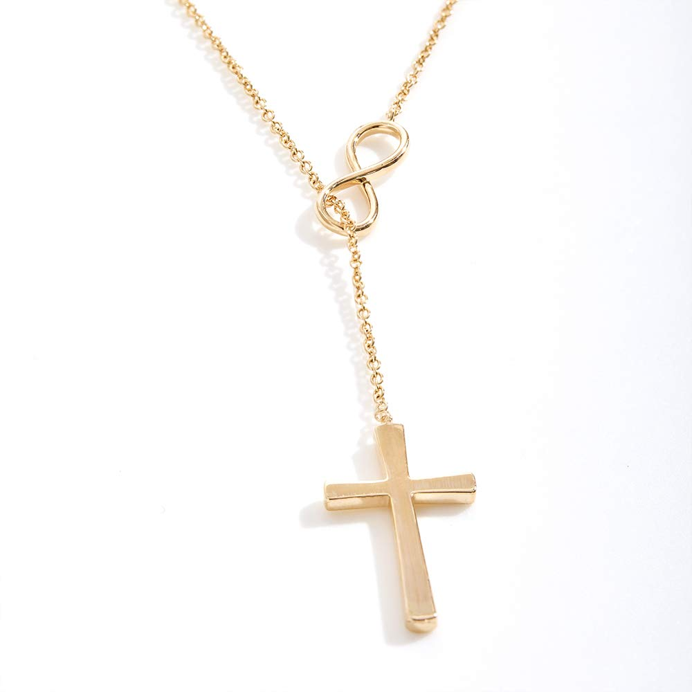 Mother Daughter Daughter Jewelry Dear Ava Daughter Necklace: Gift for Daughter Infinity Cross
