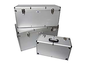 Cajas de Aluminio Set de 3 Piezas Set Boxes 155 Litros Plata - 64000