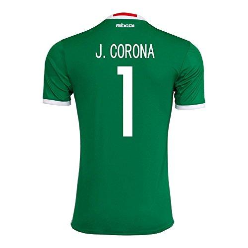 ポスター恒久的トンネルAdidas J. Corona #1 Mexico Home Jersey Copa America Centenario 2016 - YOUTH/サッカーユニフォーム メキシコ ホーム用 ジュニア向け