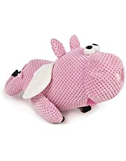 goDog Checkers with Chew Guard Technology Durable Plush Dog Toys with Squeakers