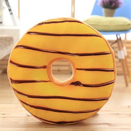 OrchidAmor Fun 3D Simulation Donut Shaped Pillow Soft Back Pad Plus Soft Toy Home Decor -
