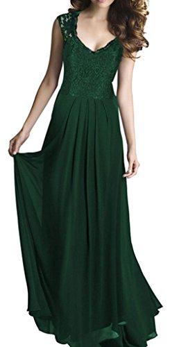 [SportsWell Women's Vintage Lace V-Neck Maxi Dress Long Wedding Party Dress S, Green] (Maternity Fancy Dress Uk)