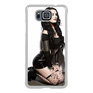 Great Quality Samsung Galaxy Alpha Case ,Wwe Superstars Collection Wwe 2k15 Paige 01 White Samsung Galaxy Alpha Cover Case Hot Sale Phone Case Unique And Beatiful Designed