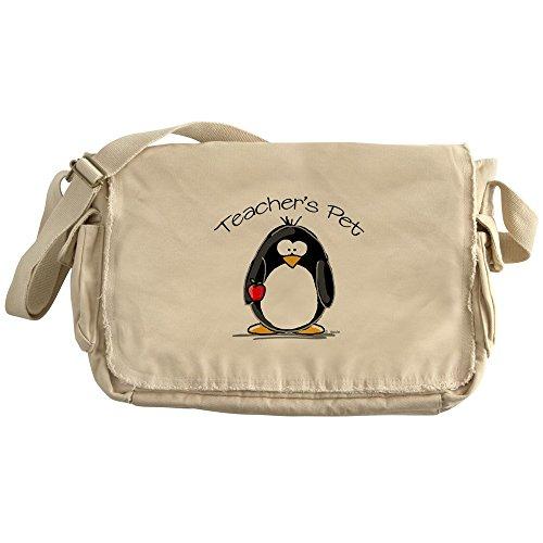 CafePress - Teachers Pet Penguin - Unique Messenger Bag, Canvas Courier Bag