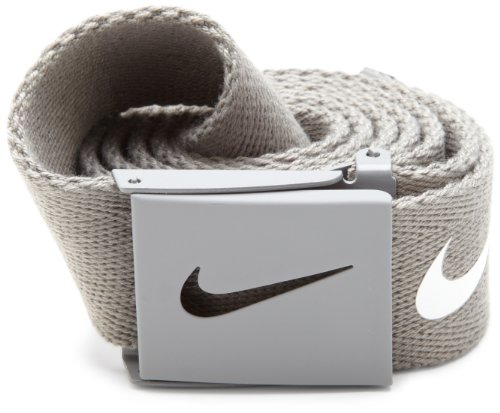Tiger Cotton Belt (Nike Mens Tech Essential Belt, Light Charcoal, One)