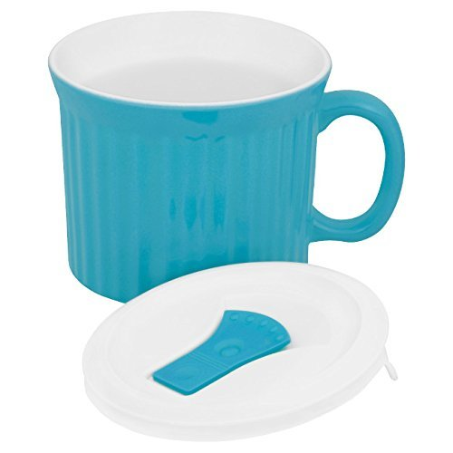 Corningware Colours Pop-Ins Pool 20-oz Mug w/ Lid (Pop Ins 22 Mug Oz)