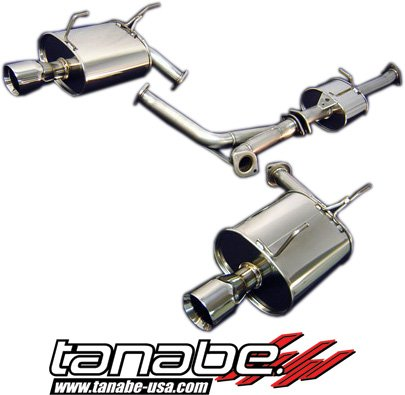 Tanabe T70040 Medalion Touring Cat-Back Dual Muffler Exhaust System for Honda S2000 - Cat Back Exhaust Tanabe