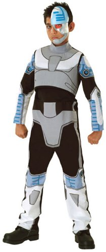 Comic Book Super Heroes Kids Costume Teen Titans Cyborg (Child-Small Size) (Cyborg Costume Accessories)