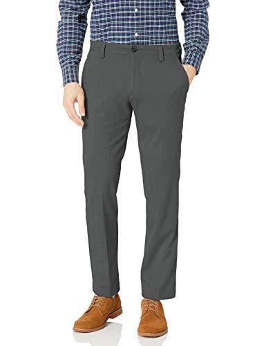 Dockers Men's Straight Fit Easy Khaki Pants D2, Storm Heather (Stretch), 34W x 29L
