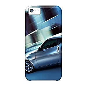 DaMMeke Case Cover For Iphone 5c - Retailer Packaging Nissan Z Silver Protective Case