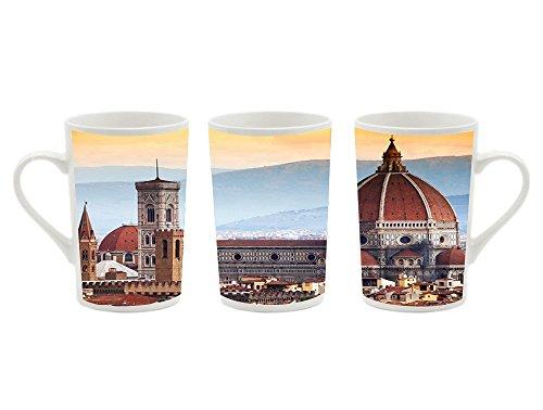 (1Pcsx Ceramic Mug Coffee Cup - La Cattedrale Di Santa Maria Del Fiore Firenze - Picture Printing White Ceramic Coffee Milk Cup Porcelain Mugs 13.5 oz)