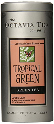 Octavia Tea Tropical Green (Green Tea) Loose Tea, 2.1 Ounce Tin For Sale